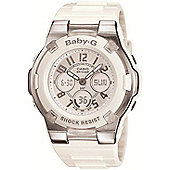 Casio BGA110/7BER Baby-G Analogue Watch with World Time - White