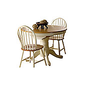 Wilkinson Furniture Cotswold Extending Dining Table in Natural Timber and Buttermilk