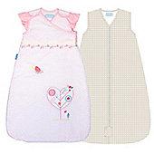 Grobag Sleep Bag 2.5 Tog Twin Pack Spotty Bamboo & Baby Bird