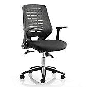 Maestro Tarnby Mesh & Leather Chair - Black