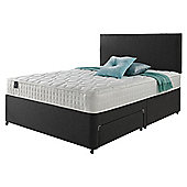 Rest Assured Classic Non Storage Double Divan and Headboard Charcoal