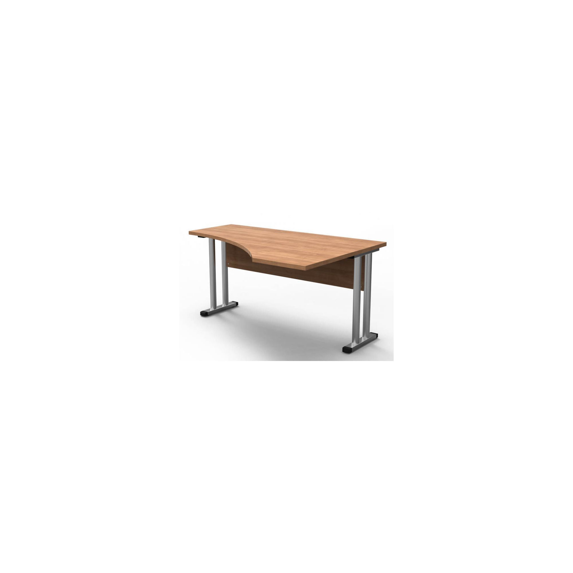 Modal Perfect 150cm Wave Desk in Warm Cherry at Tescos Direct