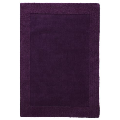 Tesco Tiered Border Wool Rug Plum 150X240Cm