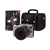 Canon EOS M Silver Camera Kit inc EF-M 18-55mm Lens, CSC Bag and Adobe Lightroom