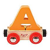 Bigjigs Rail Rail Name Letter A (Orange)