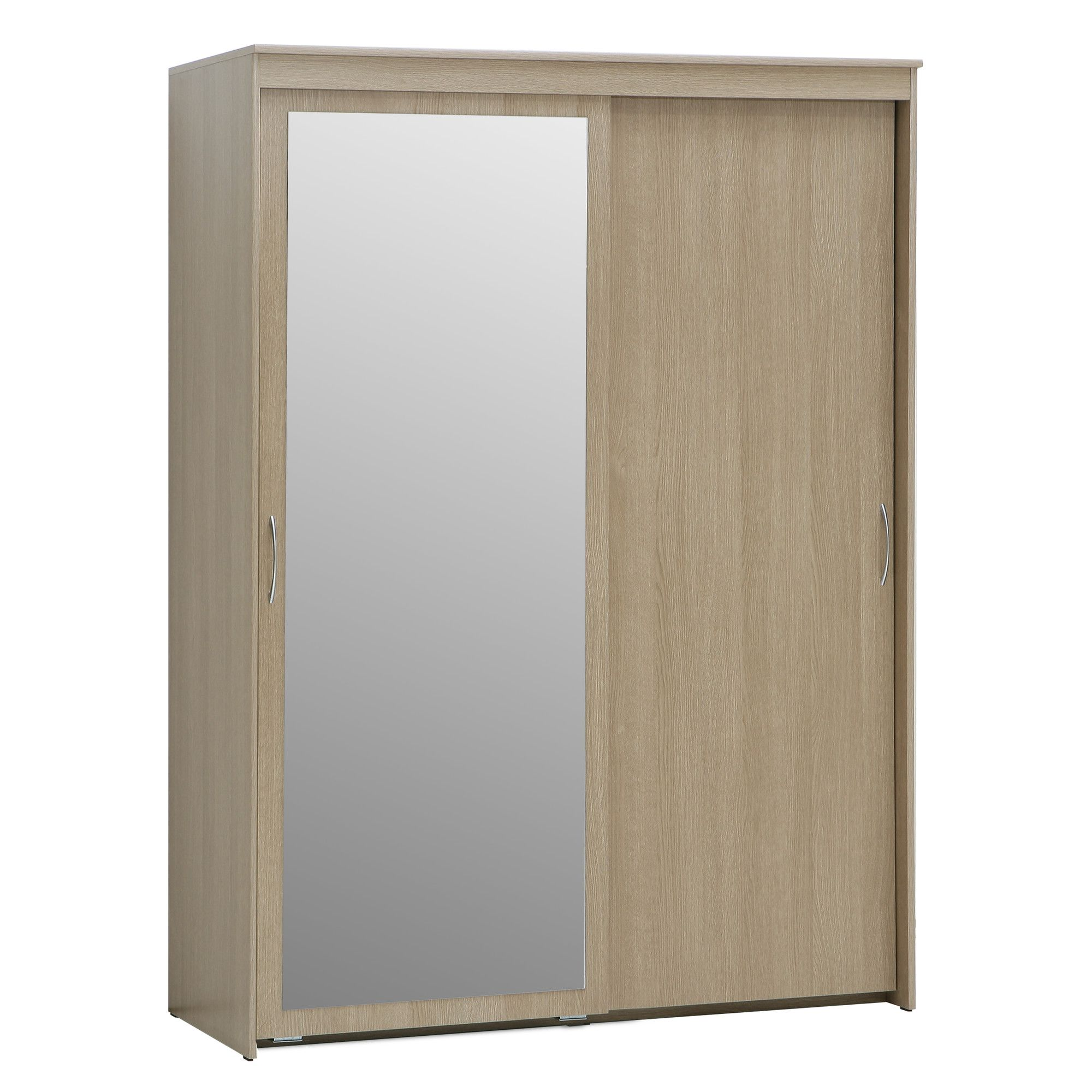 Forte Onyx Two Door Slider Wardrobe with Mirror at Tesco Direct