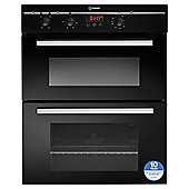 Indesit FIMU23BK, Black, Electric Twin Cavity, Built-in Double Oven, 60cm
