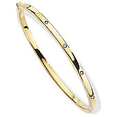 Jewelco London 18ct Yellow Gold - Diamond - Bangle