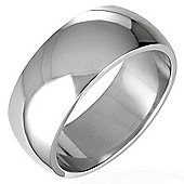 Urban Male Solid Polished Stainless Steel Curved Band Fashion Ring