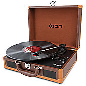 Ion Vinyl Motion Deluxe Portable Suitcase Turntable (Brown)