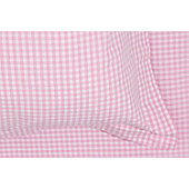 Gingham Children's Pillowcase - Pink