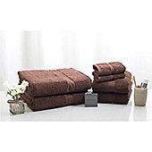 Jeff Banks 100% Egyptian Cotton Luxury 6 Piece Towel Bale - 700 GSM - Chocolate