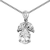 Jewelco London Rhodium-Coated Sterling Silver Cluster Pendant