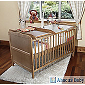 Isabella Cot Bed/Todler Bed & Deluxe Sprung Mattress & Changer - Pine