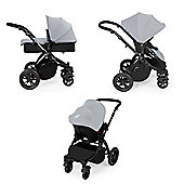 Ickle Bubba Stomp v2 Travel System + Safety Mosquito Net - Silver/Black Frame