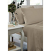 Catherine Lansfield Home Non Iron Percale Combed Polycotton Housewife Pillowcases Natural