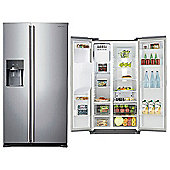 Samsung RS7567BHCSP, American Style Fridge Freezer, Water & Ice Dispenser, Platinum Silver