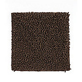 Catherine Lansfield Microfibre Chenille Shower Mat - Chocolate