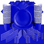 Bright Royal Blue Party Pack For 100