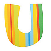 Tatiri TA321 Spots and Stripes Wooden Letter U