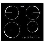 Zanussi ZEL6640FBA 60cm Induction Frameless Hob in Black with Set & Go Function