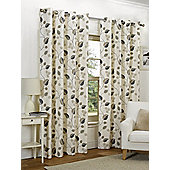 Amelia Ready Made Curtains Pair, 90 x 90 Taupe Colour, Modern Designer Look Eyelet curtains
