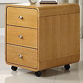 Jual Curve 3 Drawer Filing Cabinet - Oak