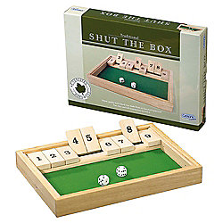 Gibsons Traditional Shut the Box Game