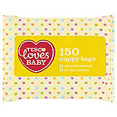 Tesco Loves Baby Nappy Bags 150 Pack
