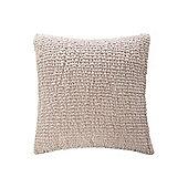 Pied A Terre Organza Ruffle Cushion Dove Grey In Grey