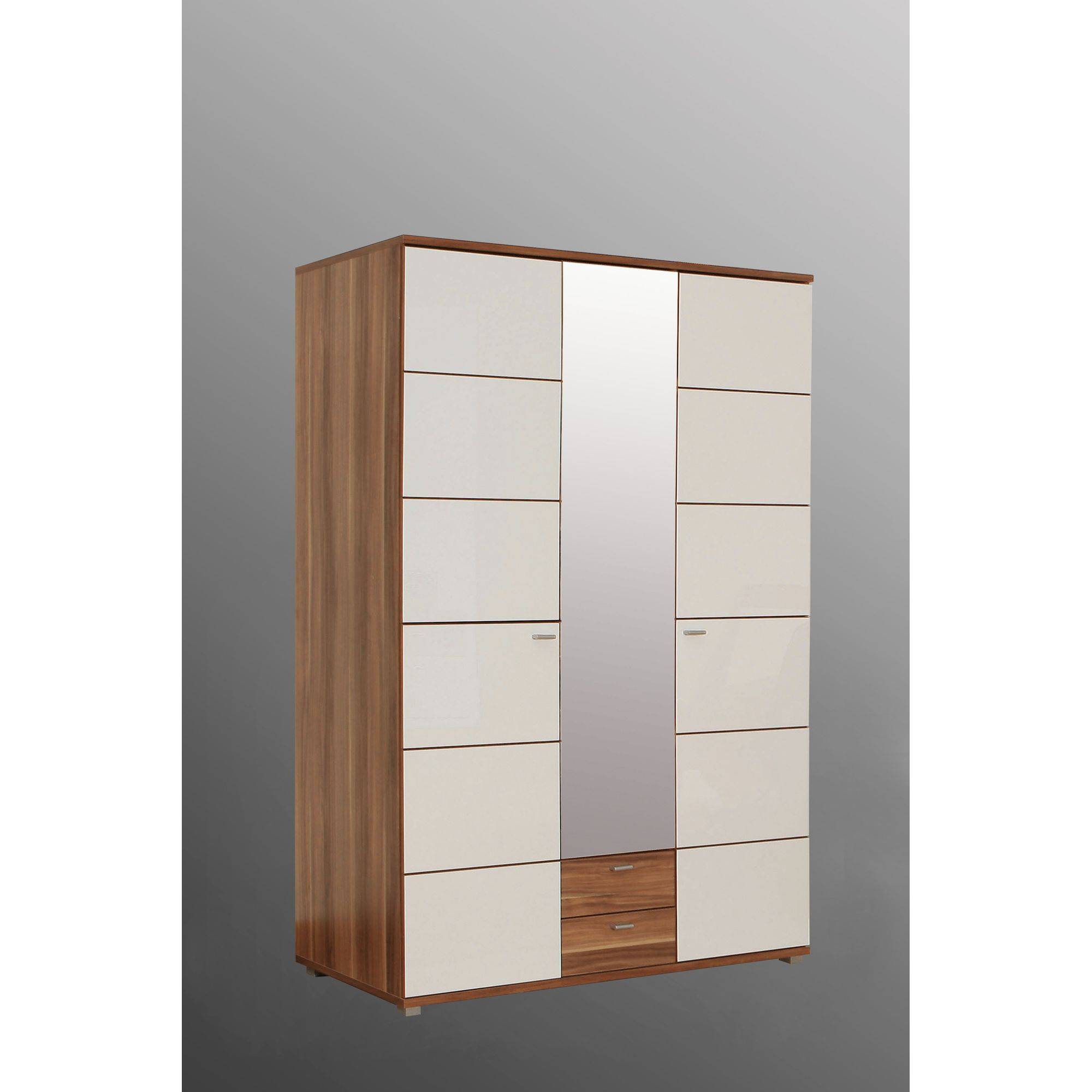 Amos Mann furniture Valencia 3 Door Wardrobe - White at Tesco Direct