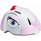 Crazy Stuff Childrens Helmet: White Bunny S/M.