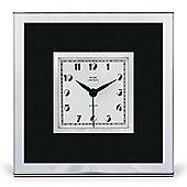 Roger Lascelles Clocks Art Deco Mantel Clock - Black
