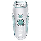 Braun Silk-epil 7 7751 Dual Epilator with shaver attachment and Gillette Venus shaving foam