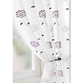 Carnation Voile Curtain Panel - Purple