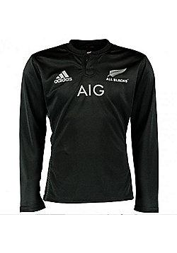 adidas New Zealand All Blacks 2015/16 Long Sleeve Rugby Shirt - Black
