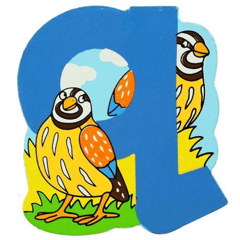 Bigjigs Toys BJL117 Wooden Magnetic Animal Letter Lowercase Q (Designs Vary)