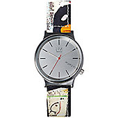 Komono Jean-Michel Basquiat Wizard Print Tenor Unisex Leather Watch KOM-W1833