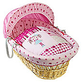 Clair De Lune My Dolly Natural Wicker Moses Basket