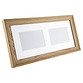"Tesco Solid Oak Frame 2 aperture 4""x6"""