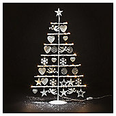 Dobbies  White Metal LED Decorated Tree Large