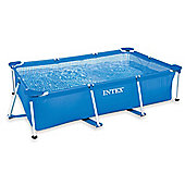 "Intex Rectangular Metal Frame Pool No Pump 86 5/8"" x 59"" x 23 5/8"" - 28270"