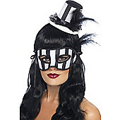 Mini Top Hat & Mask (Black & White)