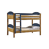 Maximus Bunk Bed 3ft Antique With Blue Details