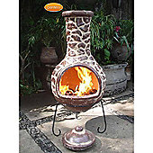Extra-Large Cantera Mexican Chimenea in Brown