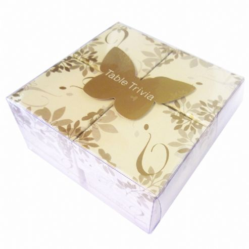 Wedding Gift List Tesco : Buy (Gold & White) Wedding Table Trivia Cards from our Trivia, Quiz ...