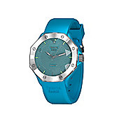 Tresor Paris Watch - ISL - Stainless Steel Bezel-Crystal Dial - Light Blue Silicone Strap - 44mm