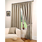 Hamilton McBride Waffle Lined Pencil Pleat Curtains - Taupe