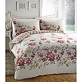 Dreams n Drapes Deborah Red Double Quilt Set