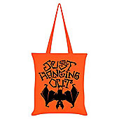 Just Hanging Out Tote Bag Orange 38x42cm